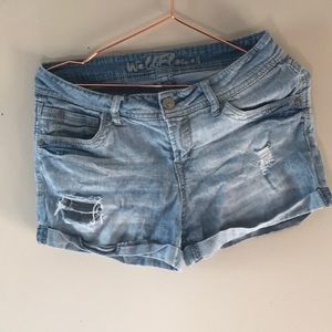 Wallflower Distressed Jean Shorts B
